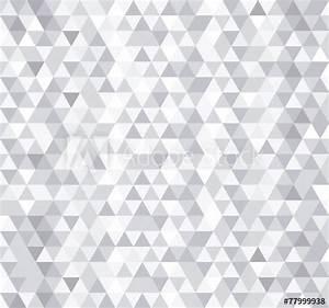 White triangle tiles seamless pattern, vector background ...