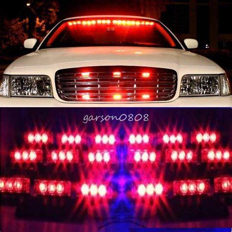 red led vehicle warning lights 54 led red emergency car vehicle strobe lights bars