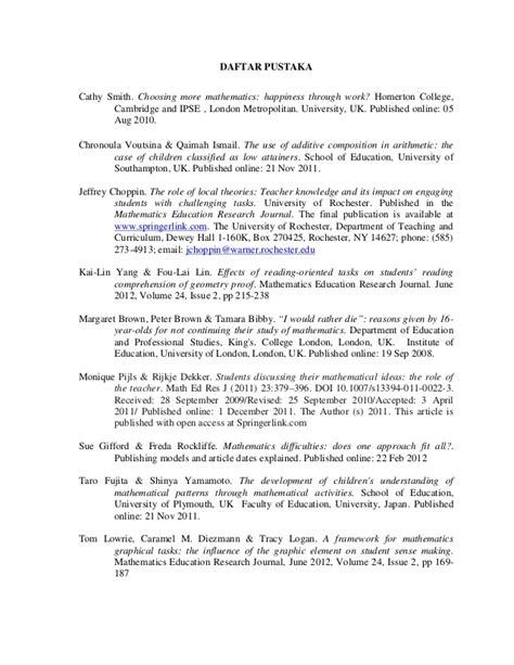 contoh jurnal internasional pendidikan matematika top 10