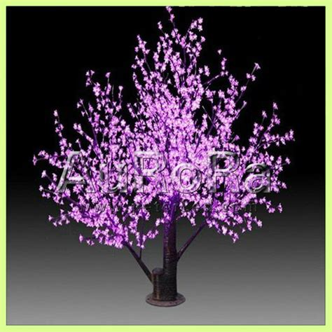 decorative lighted trees and flowers led tree