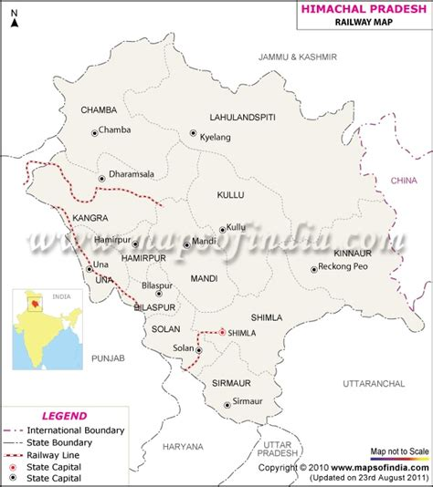 railway network map  himachal pradesh railway maps