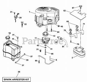 Husqvarna Parts On The Engine Diagram For 2042 Ls
