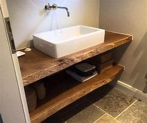 Möbel Für Aufsatzwaschbecken : waschtischplatte massiv aus holz auf ma eiche holzwerk hamburg bathroom pinterest ~ Markanthonyermac.com Haus und Dekorationen