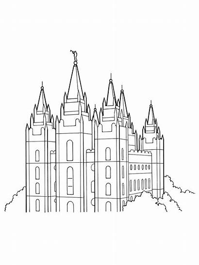 Lds Temple Salt Lake Coloring Primary Pages
