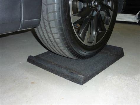 Garage Floor Tire Stops by Bump N Stop Parking Mats Protecting Cars Garages