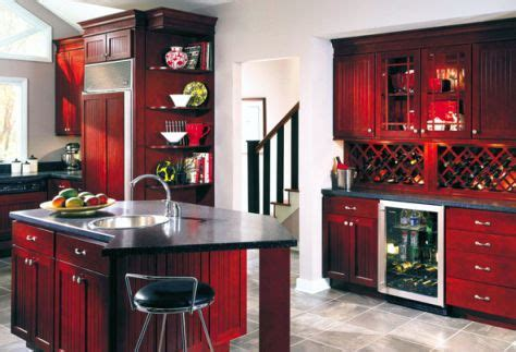 cabinets  kitchen antique red kitchen cabinets