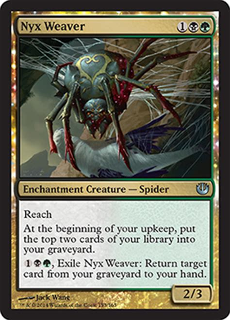 mtg dredge deck 2015 jou nyx weaver new card discussion the rumor mill