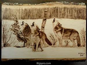 Wolves - Wood burning by brandojones on DeviantArt