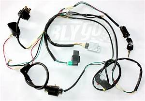 Complete Electric Start Engine Wiring Harness Loom 110