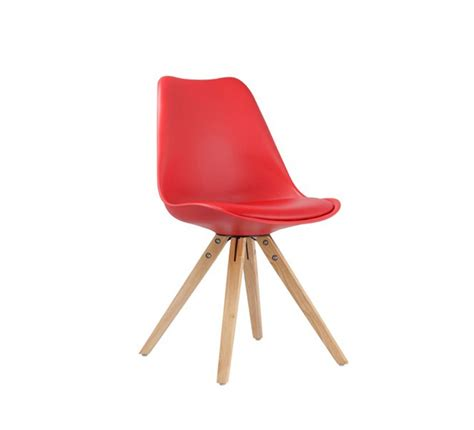 """Chaise Design Scandinave Rouge """"scandinave Lounge"""" 7088"""