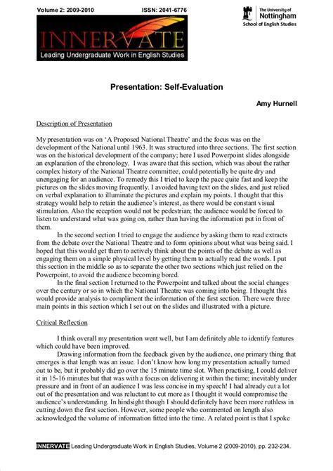 printable self evaluation essay example1