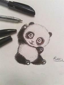 Cute Baby Panda Drawing by M-K-Arts on DeviantArt