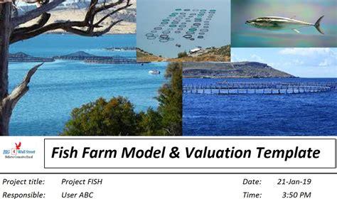 offshore fish farm start  model valuation excel