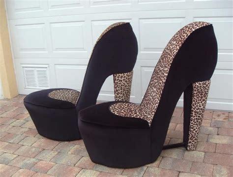 high heel chairs for sale buy 2 leopard high heel shoe