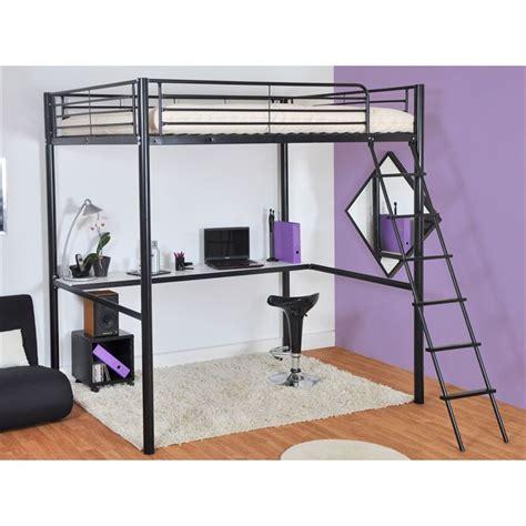bureau pour mezzanine lit mezzanine avec tablette bureau couchage achat