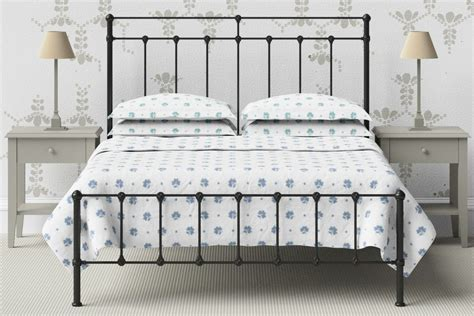 Plain Metal Bed Frame by Wrought Iron Cast Iron Beds In Black Or Ivory