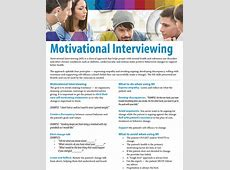 Motivational Interviewing TIPS Fact Sheet atom Alliance