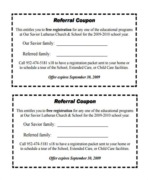 referral program template 11 referral coupon templates sle templates