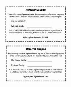 Sample referral coupon template 10 download in pdf psd for Refer a friend coupon template