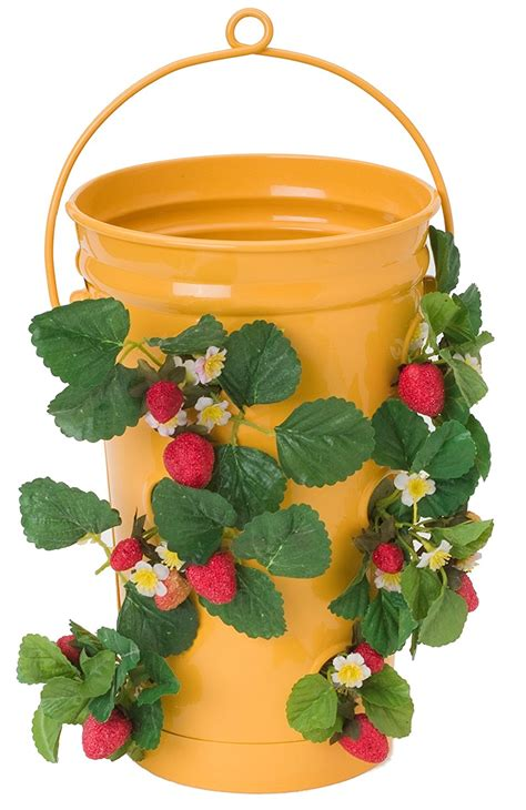 hanging strawberry planter 6 best strawberry planters grow green food