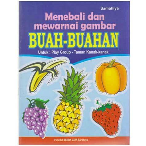 mewarnai gambar buah buahan untuk anak tk