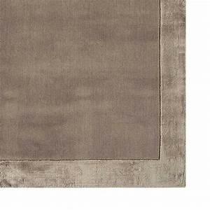 tapis de salon design taupe en laine et viscose With acheter tapis salon