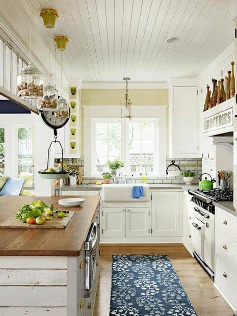 affordable ways  create  shabby chic kitchen