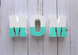 mother39s day gift diy wooden letters gublife With mom wooden letters