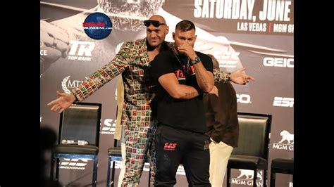 Tyson Fury and Tom Schwarz face off at final press conference
