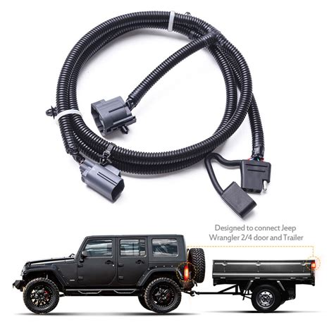 Jeep Computer Wiring Harnes by Mictuning 65 Quot Trailer Hitch Wiring Harness Kit 4 Way 07 17