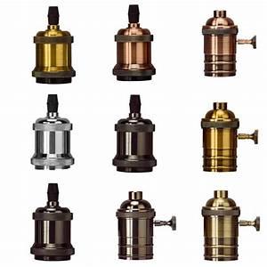 Vintage Screw Aluminum Light Socket Keyless Lamp Base