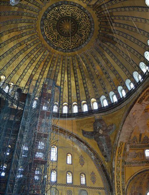 cupola di santa sofia basilica di santa sofia a istanbul museo dal 1931 vista