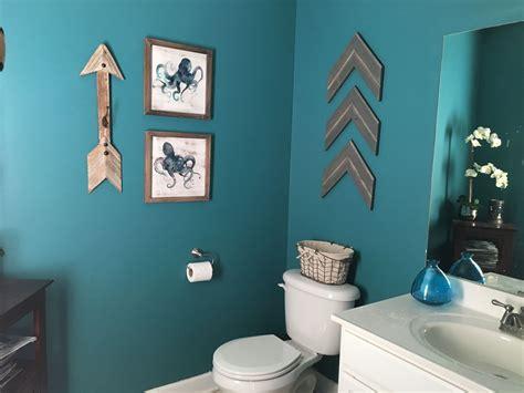 teal bathroom rustic arrows home sweet home