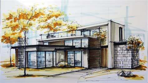 Architectural Sketching House 6
