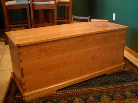 cherry hope chest woodworking blog  plans