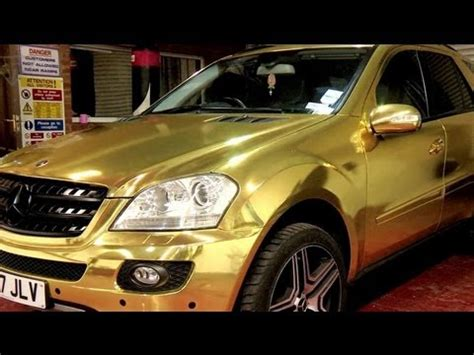 mercedes wrapped gold sweet wrap youtube