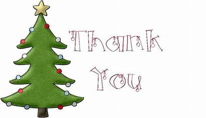 Thank Christmas Clipart Card Cards Printable Notes