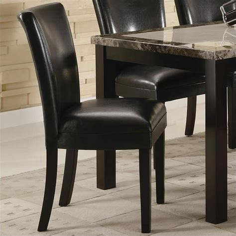 coaster upholstered dining chair in black 102262