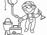 Coloring Plumber Pages Getcolorings Drawing Ki Printable sketch template