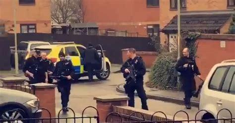armed officers  police dog dealing  incident