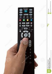 Hand Holding A Tv Remote Control Stock Images