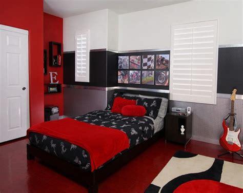 minimalist black  red bedroom ideas
