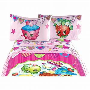 Ensemble De Draps Shopkins Lit Simple Rose Ensembles