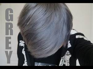 How To Dye Your Hair SilverGrey THE SAFE WAY YouTube
