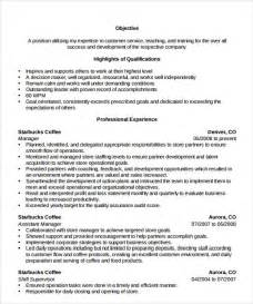 starbucks shift manager resume sle store manager resume 10 free documents in pdf