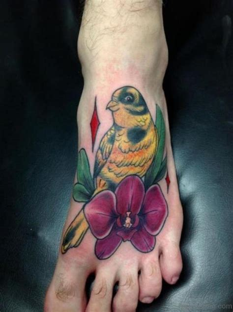 impressive bird tattoos  foot