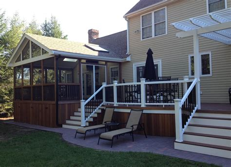 one level house plans with porch deck design ideas with screened porch archadeck