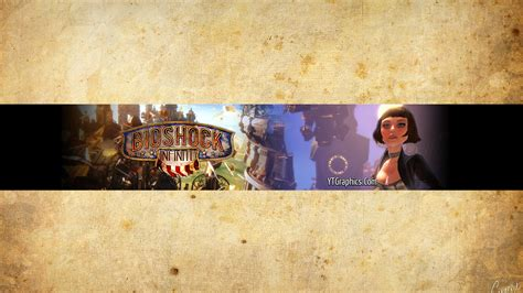 bioshock infinite channel art youtube channel art banners