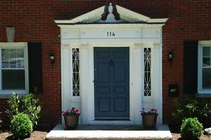 Red Front Door Color For Brick House Demonstrated Two ...