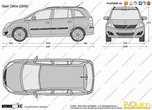 Opel Zafira Vector Drawing